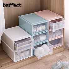 hot deal buy baffect pp drawer closet organizers boxes for scarf socks wardrobe underwear bra storage box desktop cosmetic sundries finishing