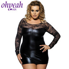 Ohyeahlover Da Sexy Mini Dress Clubwear Ren Backless Bodycon Ống Dress Tenue Sexy Trang Phục Đồ Lót Khiêu Dâm M-6XL RM7393(China)