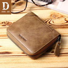 DIDE Fashion Casual Genuine Leather purse female original leather Zipper Wallets Women Purses Coin Card Holder Wallet Ladies Bag