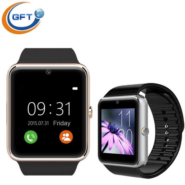 Gft GT08A frete grátis preço de fábrica dispositivo wearable SIM Card GSM GPRS Bluetooth relógio inteligente para Android celular preto