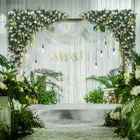 1.2m x 1.2m/pcs White Wedding Flower Wall with grass green Artifical Silk Flower Backdrop Wedding Props 2pcs/lot