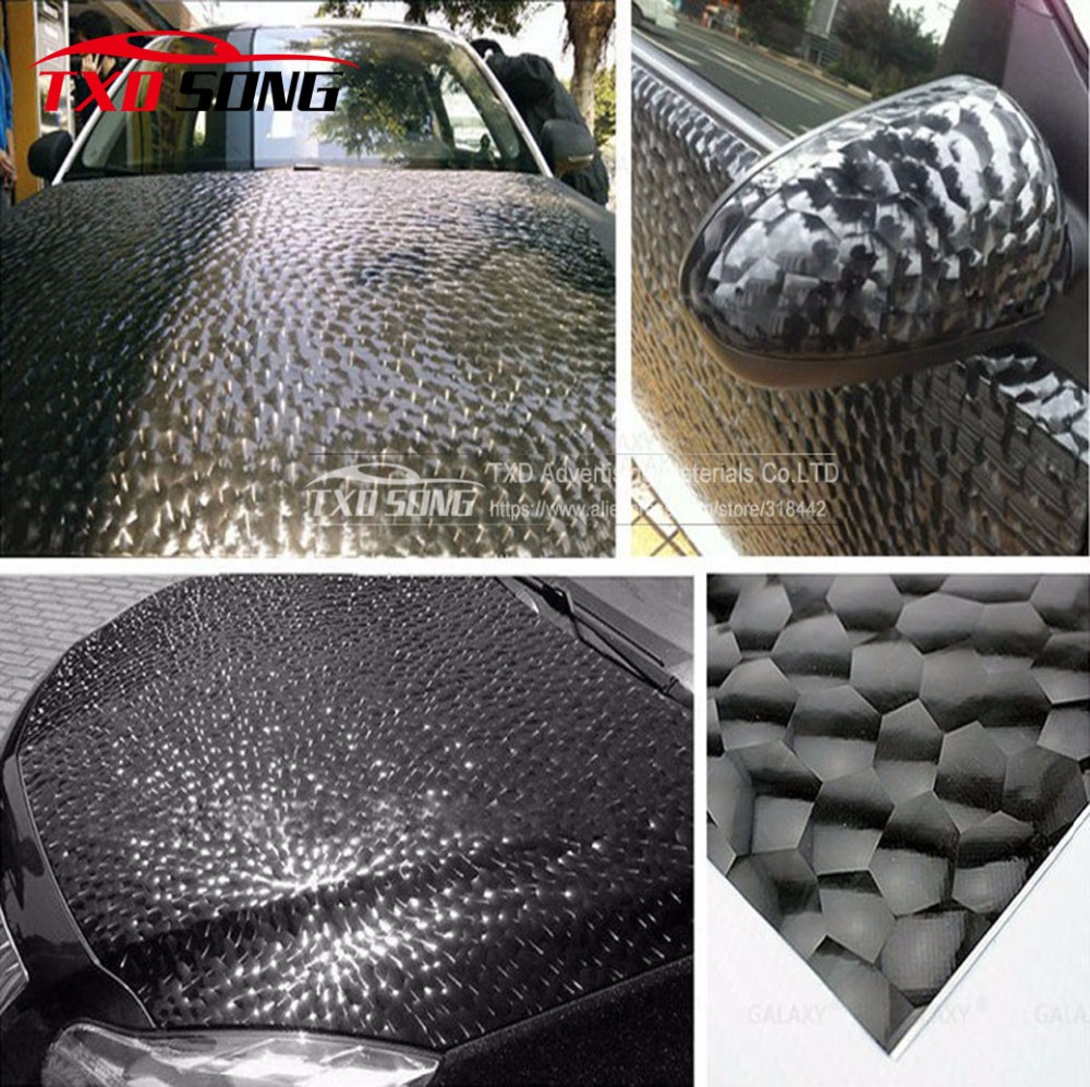 Whole Roll 1.52*30M Water Cube Carbon fiber sticker for car wrapping ,3D carbon film specila texture Water Cube Vinyl Sticker