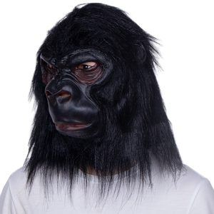 Image 3 - Halloween Latex Black Gorilla Mask Adult Full Face Funny Animal Mask Latex Halloween Party Cosplay Costume