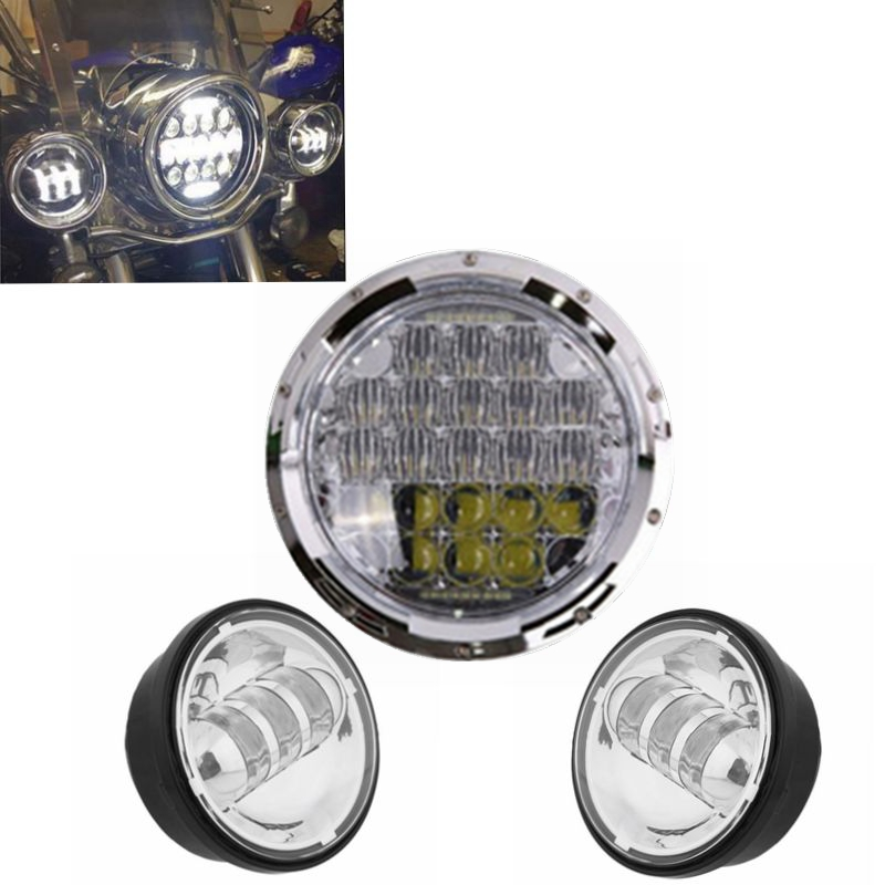 Harley Daymaker 7inch LED Headlight Motorcycle Projector Lights For Harley Davidson with Matching 4.5 ''Led Fog Lights 7inch motorcycle daymaker replacement led headlight