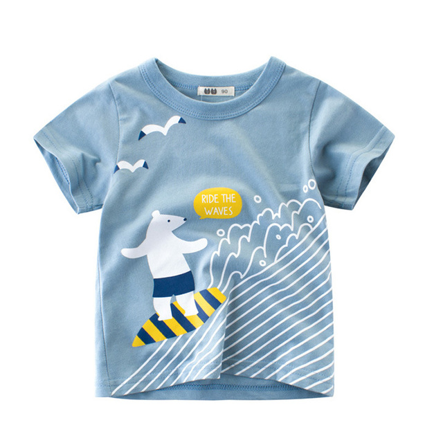 6f250c9b2c57 Summer Children T Shirts Cotton Short Sleeve Kids T-shirt Printed Tees Surf Boys  Girls