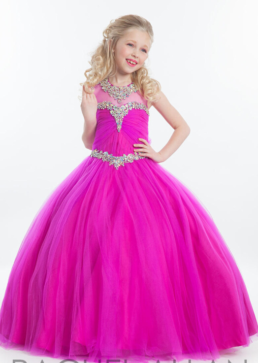 2015 Lovely Hot Pink Princess Flower Girl Dresses Girls Designs ...