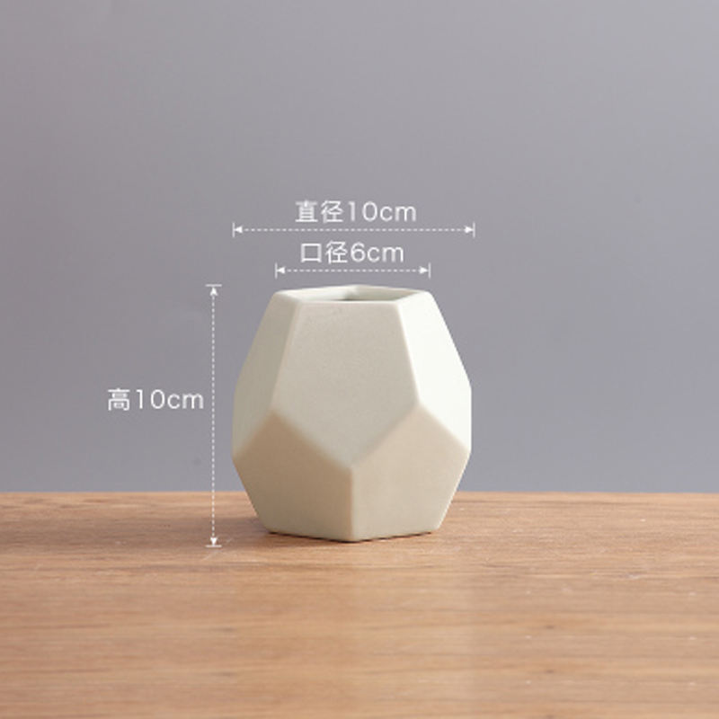 US $36 54 15% OFF|silicone mold Modern minimalist ceramic flower vase  Nordic creative geometric home decoration cement 3d vase molds-in Cake  Molds