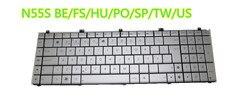 Laptop klawiatura do asus N55S srebrny być/FS/HU/PO/SP/TW/US MP-11A16BO69202 AENJ5B01010 MP-11A13PS69202