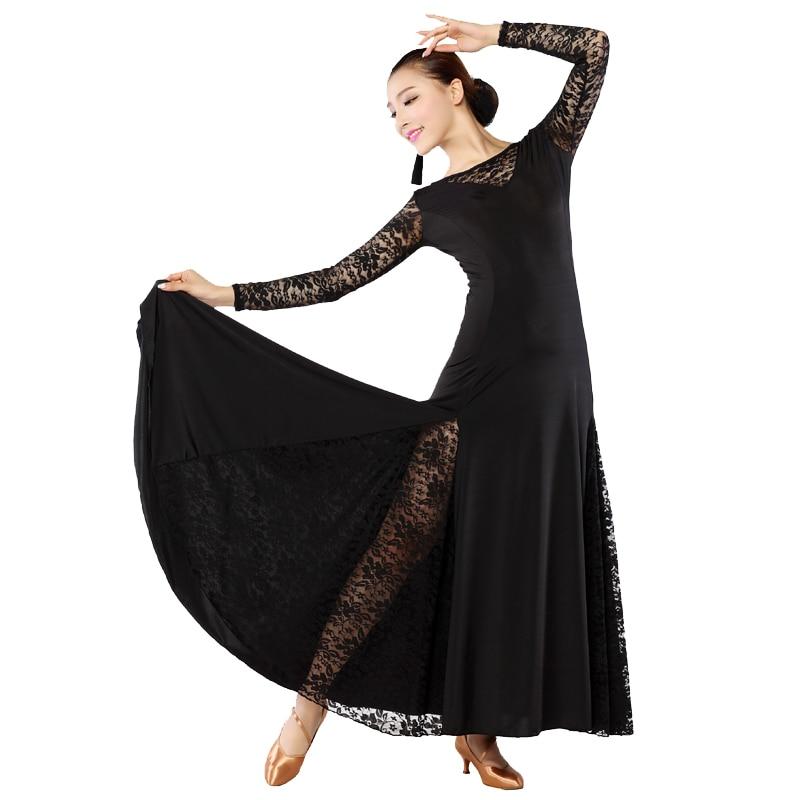 fe81e8802867f Adult Ballroom Waltz Dresses Black/Red/Purple Ballroom Dancing Dress for  Women Modern Dresses Adult Tango Dance Lace Dress S8017
