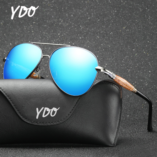 b834679e1b YDO Exquisite Temples Polarized Sunglasses Women Men Sun Glasses Clear  Visual Aviation Fashion UV400 Vintage Male
