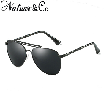 Natuwe&Co Retro Polarized Pilot Sunglasses Men Women Metal Mirror Driving Glasses N0972