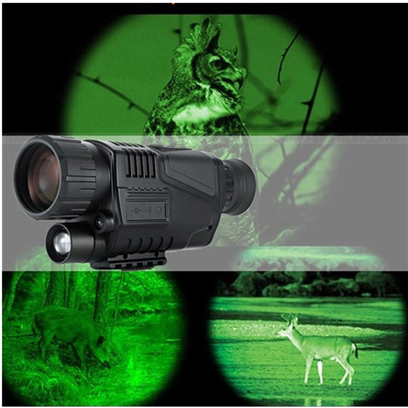 Hunting Night Vision Telescope 5 x 40 Infrared Military Tactical Monocular Powerful HD Digital Vision Rechargeable