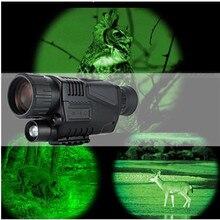 Охотничий телескоп ночного видения 5x40 инфракрасный военный тактический Монокуляр мощный HD цифровое видение перезаряжаемый телескоп