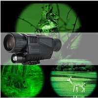 Hunting Night Vision Telescope 5 x 40 Infrared Military Tactical Monocular Powerful HD Digital Vision Rechargeable Telescope