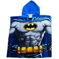 Músculo crianças Batman Roupão Manto/Crianças Dos Desenhos Animados Nadar Robe Toalha/Baby Boy Superhero Natação Toalha De Praia Com Capuz Poncho