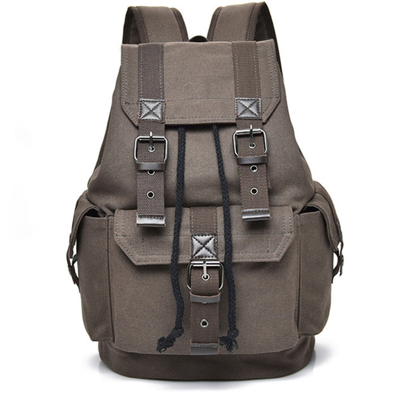 Men's Bag Canvas Functional Luggage Bag For Men Travel Bags Male Large Capacity Back Pack Male Anti Theft Backpack Men Backpack