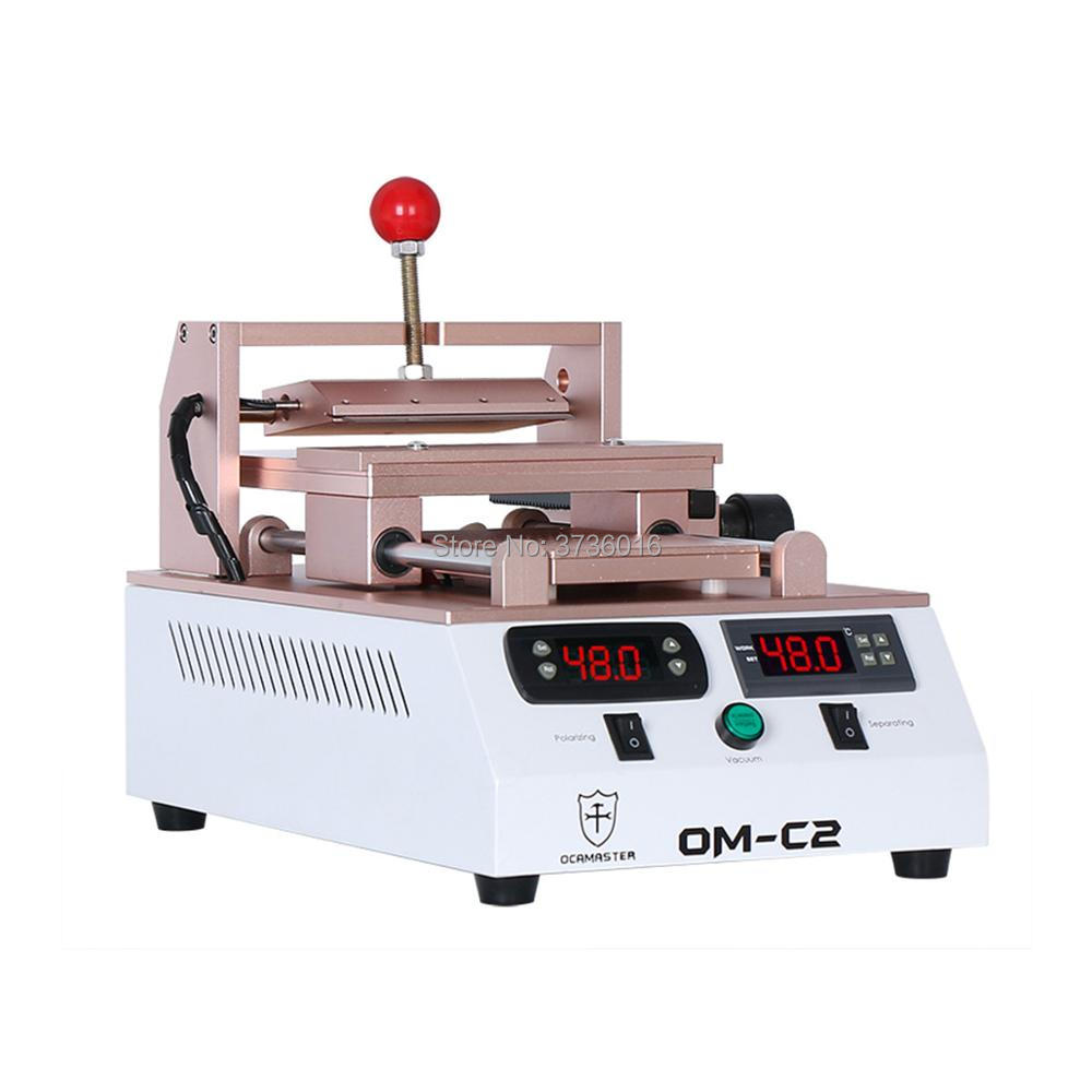 Séparateur LCD de OM C2 et machine de dissolvant de polariseur intégrée dans la double pompe à vide avec aspiration puissante pour la réparation de téléphone portable - 2