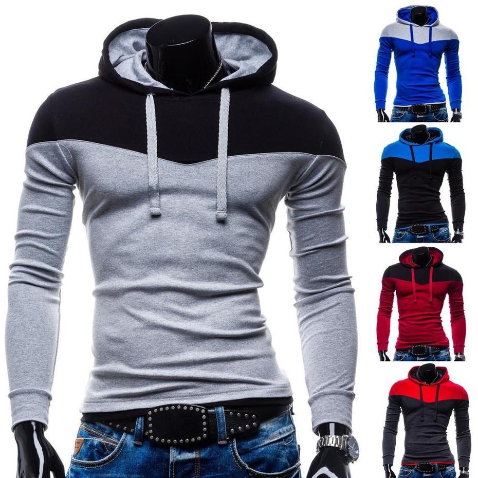 ZOGAA Autumn Coat Slim Patchwork Color New Hoodies Men Winter Male Sweatshirt Teenage Casual Cardigan Hoody Jacket