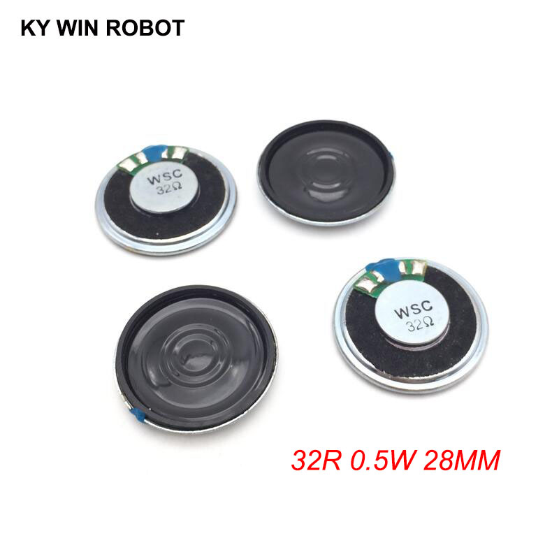 5pcs/lot New Ultra-thin Mini Speaker 32 Ohms 0.5 Watt 0.5W 32R Speaker Diameter 28MM 2.8CM Thickness 5MM