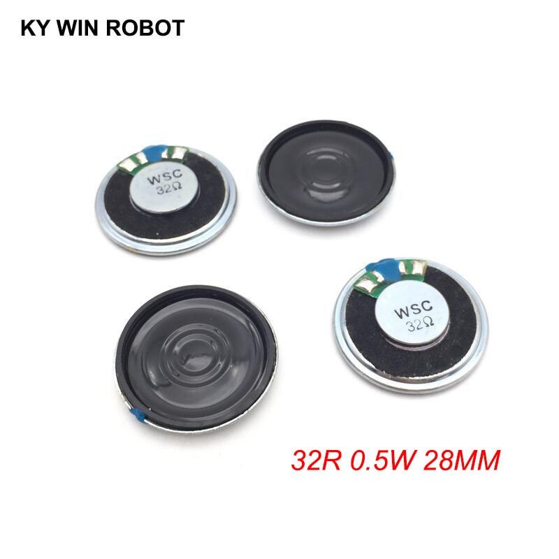 5pcs/lot New Ultra-thin Mini Speaker 32 Ohms 0.5 Watt 0.5W 32R Speaker Diameter 28MM 2.8CM Thickness 5MM