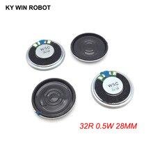 5pcs/lot New Ultra-thin Mini speaker 32 ohms 0.5 watt 0.5W 32R Diameter 28MM 2.8CM thickness 5MM