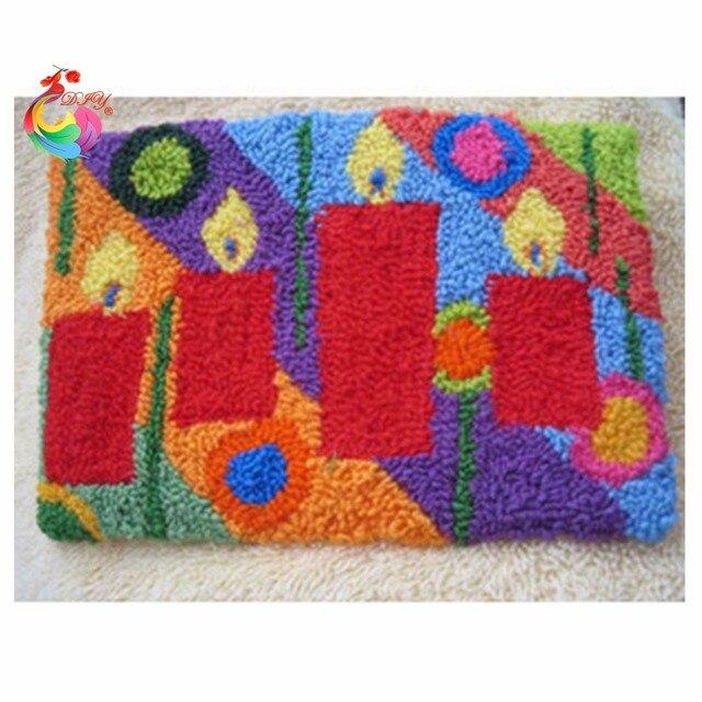Крюк с защелкой ковер комплекты Чувствовал Craft tool kit in a suitcase Круговые спицы ковров и ковровых изделий крючки