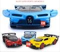 Горячая Моделирование 1:32 diecast super sport racing cars Bugatti хирон модель сплава toys with light and sound отступить vechicle