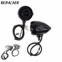 Черный хром 2 шт. MT485 1 ''/1,25'' MP3 аудио Динамик Bluetooth электрический автомобиль Водонепроницаемый аудио аксессуары для мотоциклов
