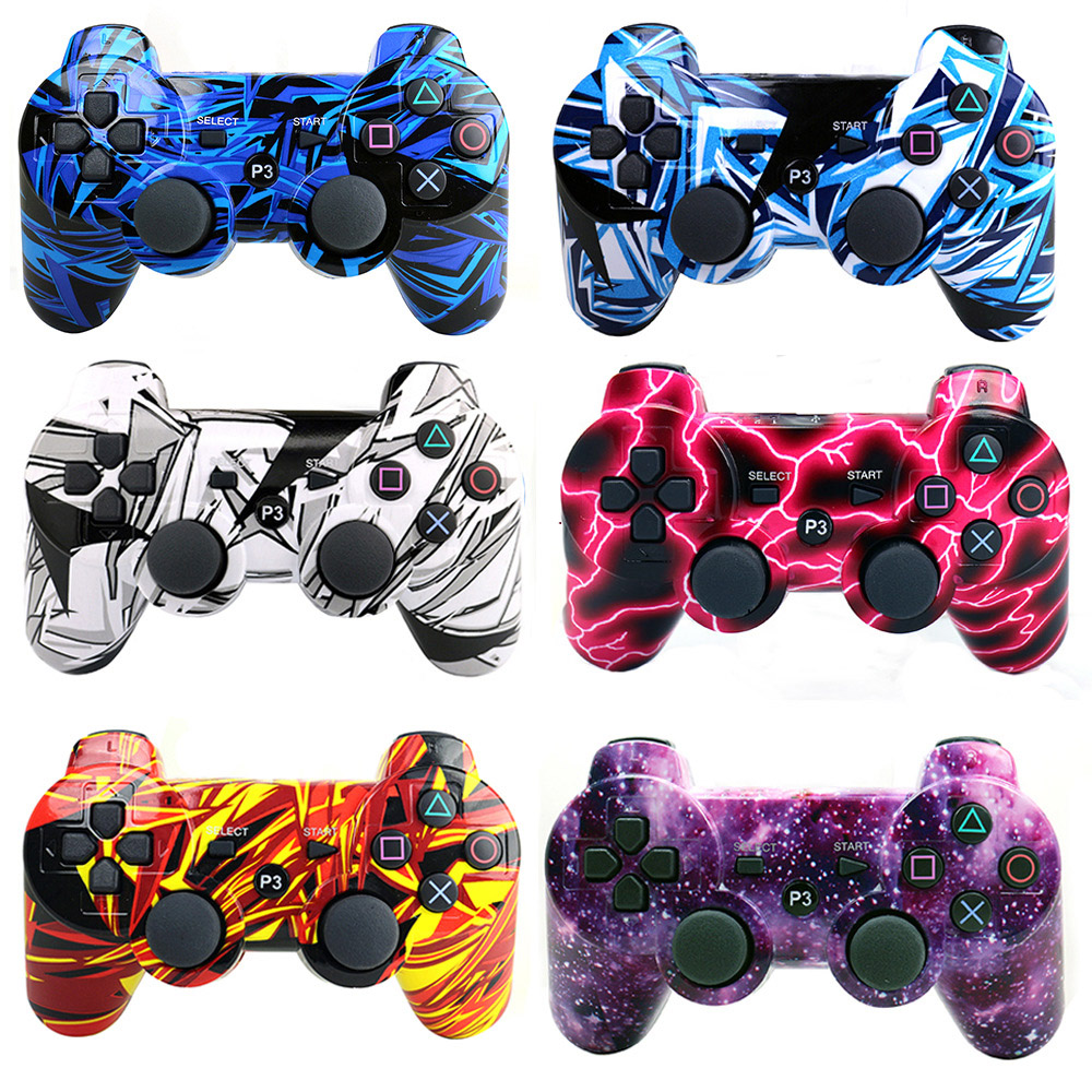Bluetooth Wireless Game Controller for Sony Play Station 3 PS3 SIXAXIS joystick Cool shining Colors