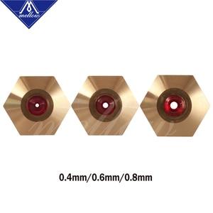 Image 2 - רך גבוהה טמפרטורת 3d מדפסת NF v6/mk10/mk8 זרבובית אודם עבור Flashforge מיקרו שוויצרי Cr10 Mk8 E3d V6 hotend