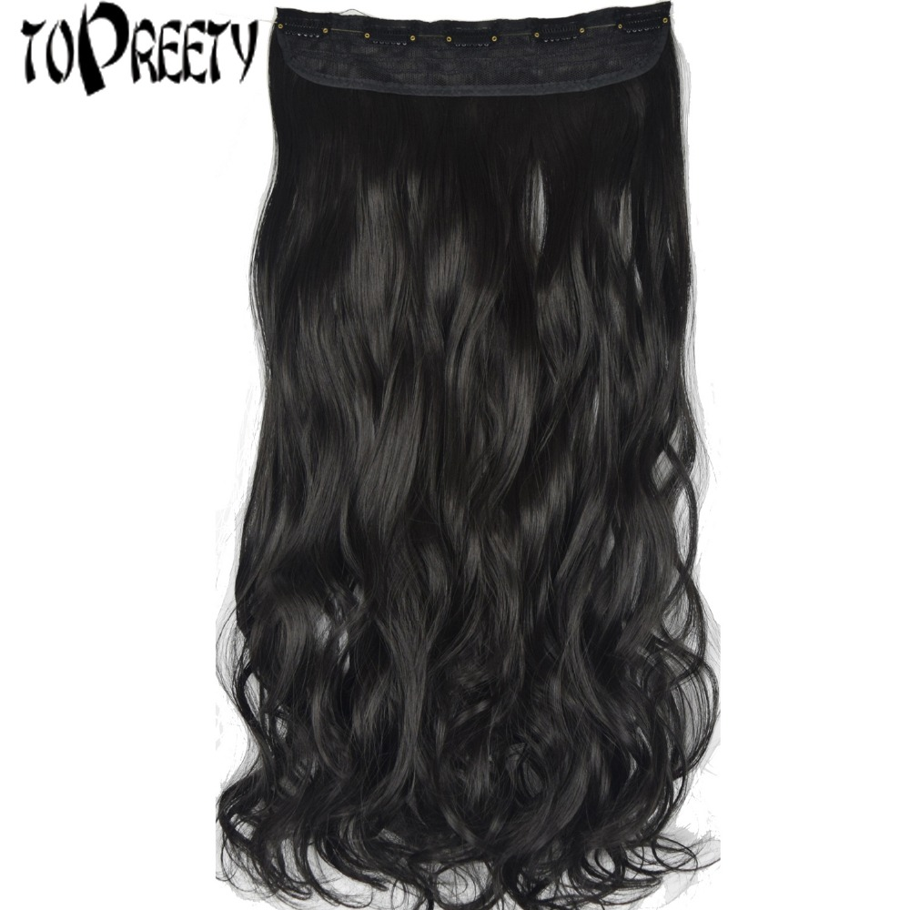 TOPREETY Heat Resistant B5 Synthetic Hair Wavy 5 clips on clip in Hair Extensions 5088