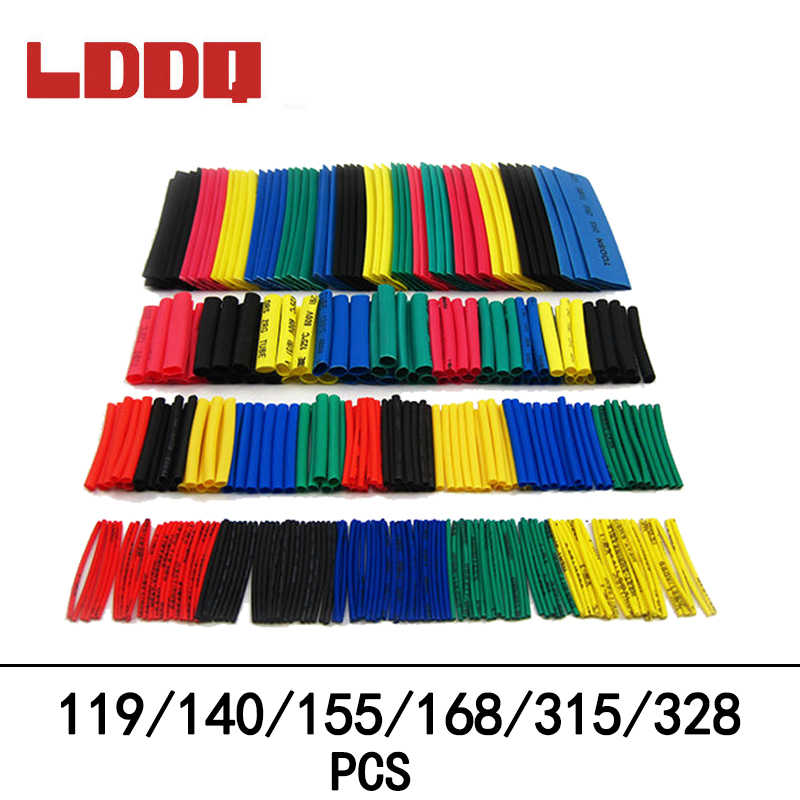 LDDQ 119/140/155/168/315/328 pièces rapport de retrait du Tube thermorétractable 2:1 manchons de câbles assortiment Kit de fils d'enveloppe avec Tube en polyoléfine