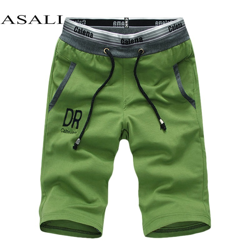 New 2019 Summer Casual Shorts Homme Loose Knitted Bermuda Masculina Ventilate Elastic Waistband Pantalones Cortos Hombre Deporte