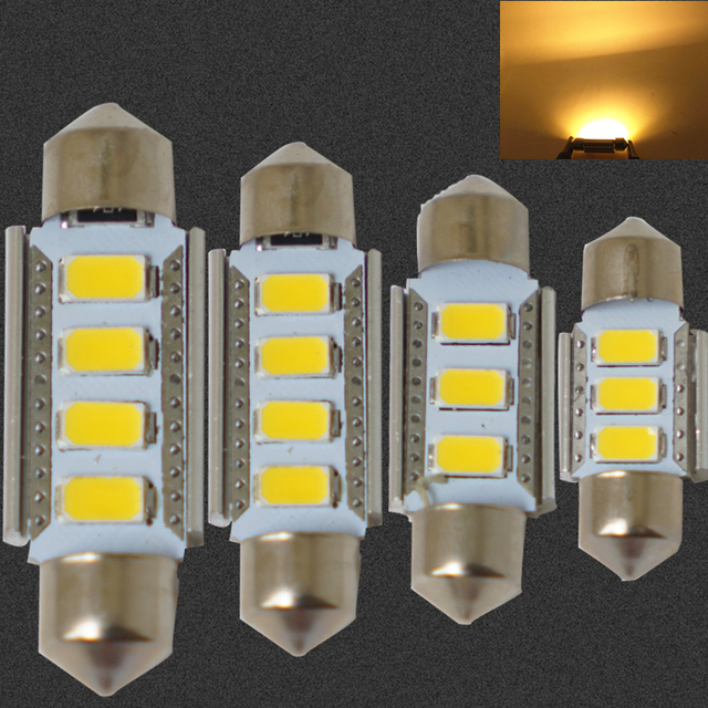 Canbus Warm white 31MM 36MM 39mm 41MM 12V 4300k 3~4SMD CANBUS Car Festoon Lights : festoon lighting definition - www.canuckmediamonitor.org