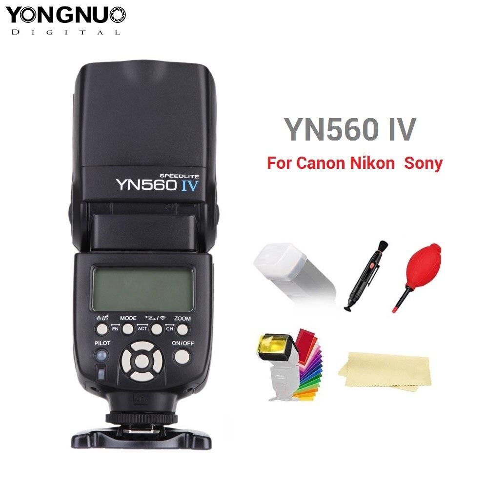 Yongnuo YN560 IV YN560IV 2.4G sans fil Master & Group flash Speedlite pour Nikon Canon Pentax Olympus Pentax sony appareil photo reflex numérique