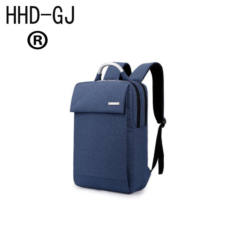 HHD-GJ shoulders back notebook computer bag 14 inch 15.6 inch students bag men and women fashion leisure bag waterproof shock