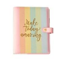 Yiwi Lovedoki Rainbow Spiral Binder Notebook Planner A5 A6 Organizer Diary Cute Dokibook Agenda School Supplies Stationery Store