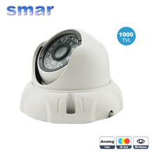 CCTV 24 Leds Outdoor/Indoor Security CMOS 1000TVL IR-CUT Night Vision Vandalproof Dome Video Camera Free Shipping