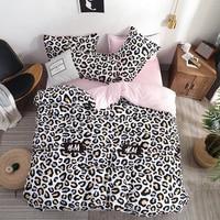 Dropshipping 2/3/4pcs King Size Bedding Sets Leopard Print Include Bed Sheet Duvet Cover Pillowcase bear children boy gife