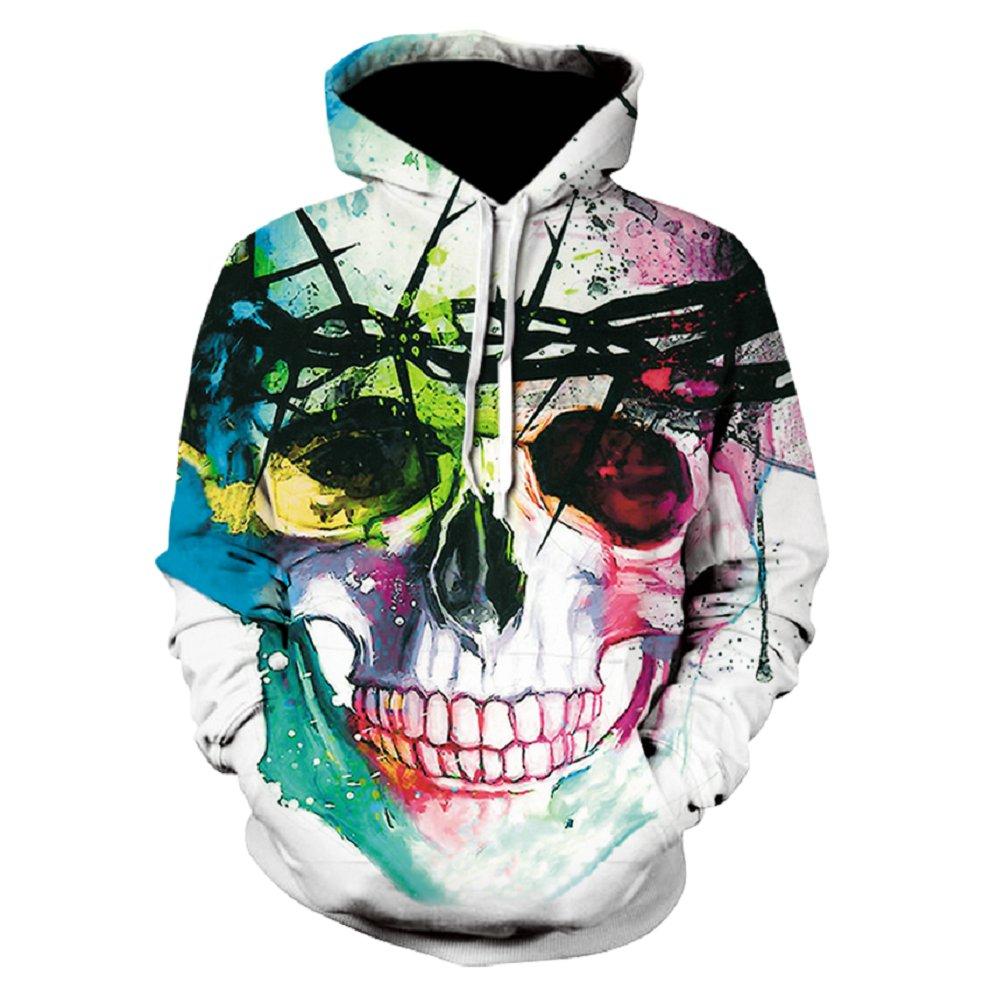 Devin Du Plus Size Skull Hoodies 3d Hip Hop Hoody Sweatshirt Men Women Streetwear Spring Autumn Tops Pullovers Blouse wholesale