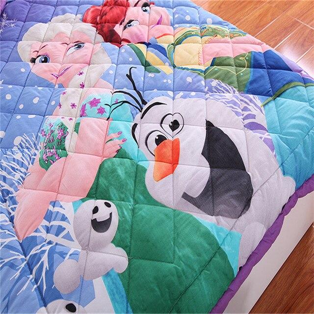 Disney reine des neiges Elsa Anna voitures sofia coton dessin animé jeter couverture garçon fille étudiant enfant 1.5m climatiseur couverture ensemble de literie