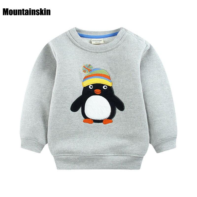 2017 Winter Cartoon Boys Girls Sport Hoodies Inside Fleece 12M 5Y Children s Sweatshirts Clothes Baby