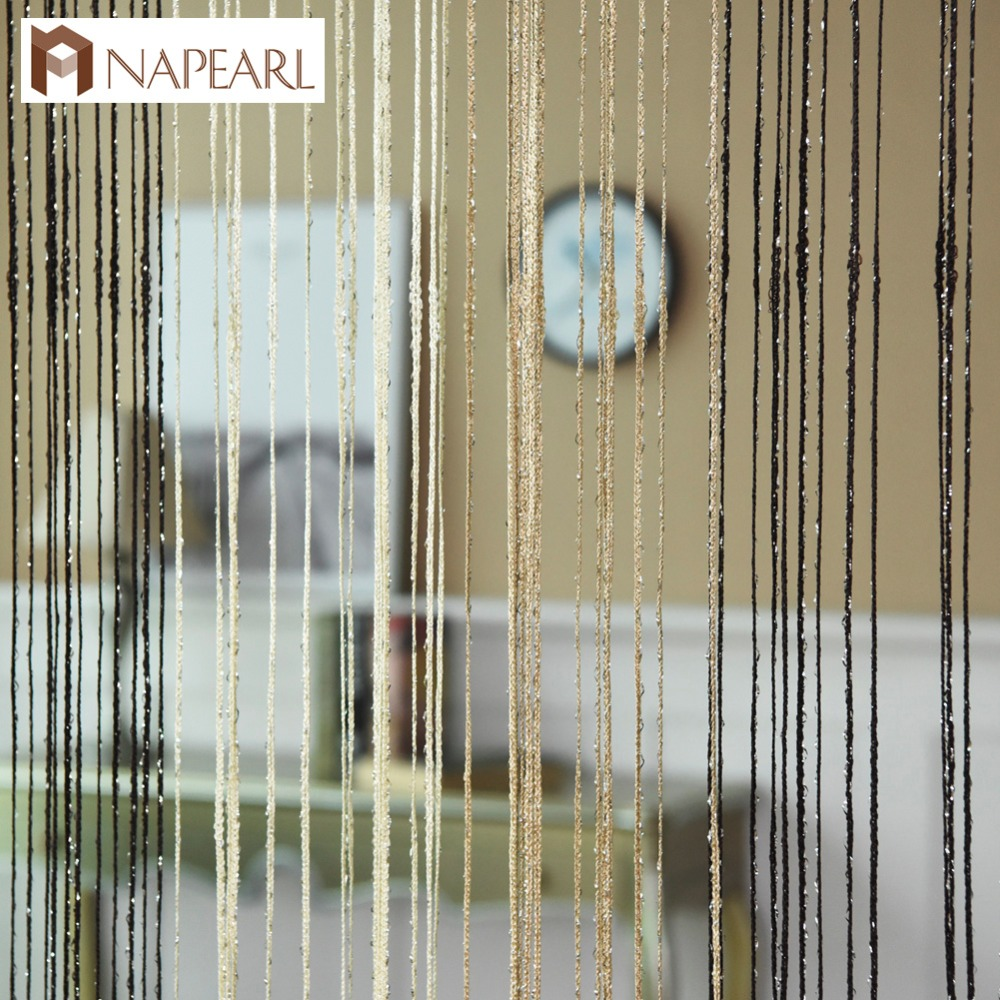 String curtains door window living room curtain modern solid color fashion design ready made rod pocket blue brown red green