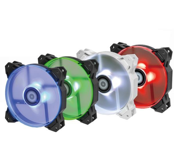 ID-di RAFFREDDAMENTO SF-12025 12 cm Temperatura Controllata Raffreddato Ad Acqua Telaio Mute Ventilatore Rosso Blu Verde LED Bianco