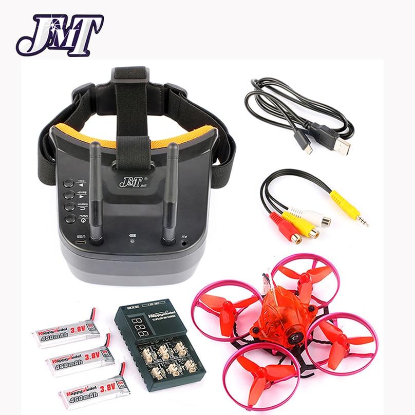 JMT Snapper7 Brushless Micro 5.8g FPV Racer Drone 2.4g 6CH RC Quadcopter RTF 700TVL Caméra VTX et Double antenne Mini Lunettes
