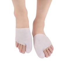 2018 New Moisturizing Gel Socks Big Toe Hallux Valgus Correction Toe Separator Foot Care Nurse Front Palm Set Women Socks Insole