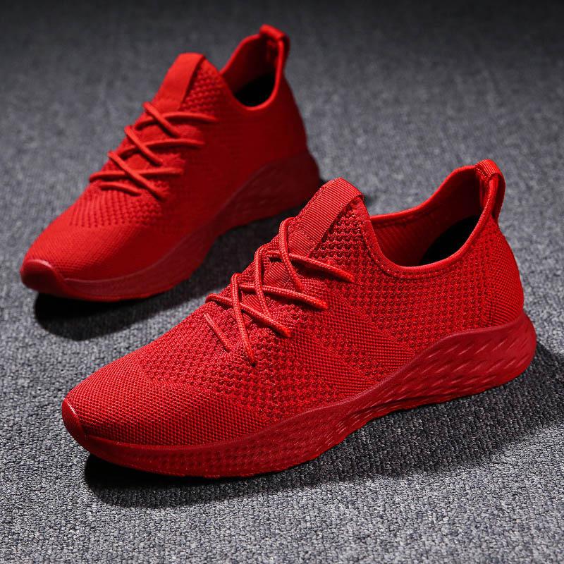 BomKinta Red Sneakers For Men Jogging