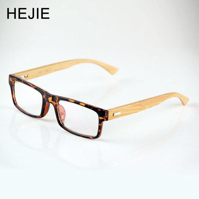 74d20ac813 Vintage Wood Temple Optical Glasses Frame TR90 Square Clear Lens Glasses  Classic Men Wooden Arm Eyeglasses
