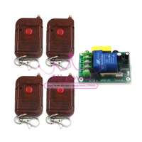 Remote wireless remote control switch terminal with 100m 1 button remote controllers switching power supply 220V 30A