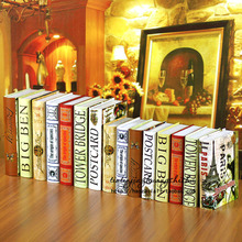 10PC book  ornaments study series of decorative props European style the ancient Fake FG-15 simulation Book decoration